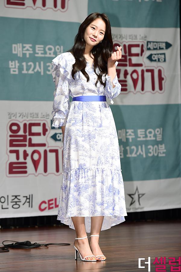 [더셀럽포토]한승연, '사랑스러운 손하트'