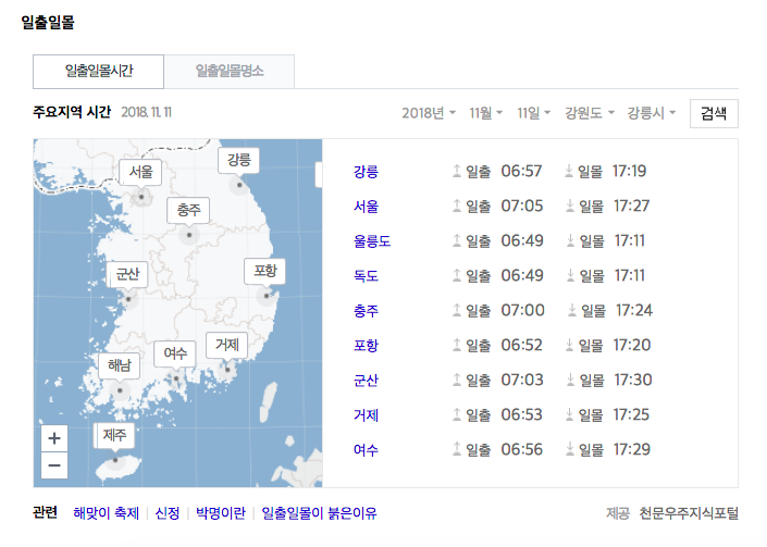 10일 오늘 해뜨는시간은?…서울 일출 시간은 오전 7시 5분, 일몰 오후 5시 27분