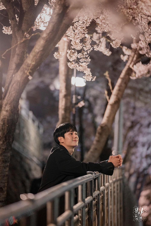 '봄밤' 정해인, 현장포토에서도 빛나는 미모…'벚꽃+핸님은 사랑입니다'