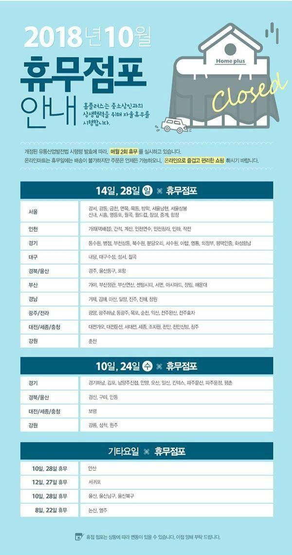 이마트 휴무일, 오늘(28일) 쉬는 날?…홈플러스 휴무일도 '관심'