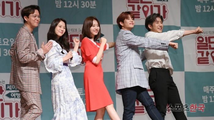 토니안·한승연·김소혜·MJ·진진 '주역들의 포토타임' (일단 같이 가 제작발표회)