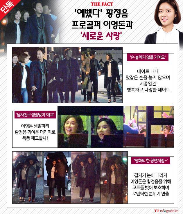 [단독-포토스토리] 황정음♥이영돈, 영화 같은 로맨틱 '생일 파티'