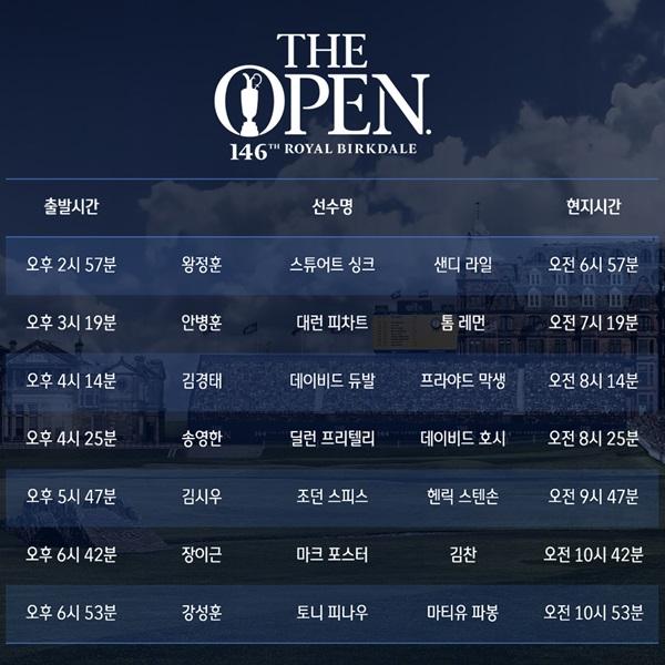 디오픈 한국 선수 8명 출전, 김경태, 안병훈, 송영한 등