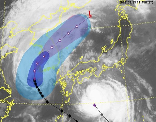 태풍 '솔릭' 역대 1위 풍속...최대순간풍속 초속 62m