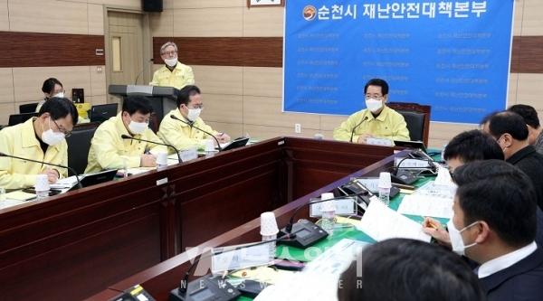 김영록 지사,  '코로나19' 동부권 대응 상황 점검
