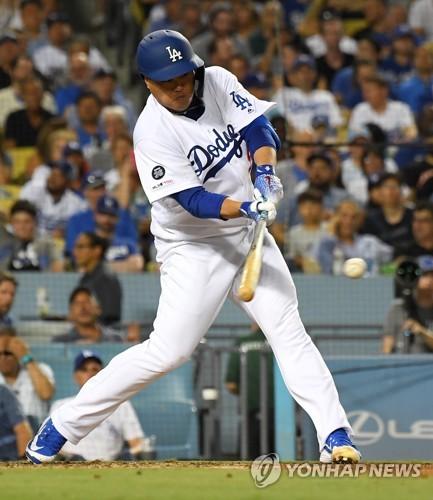 [류현진 중계]메이저리그 첫 홈런 날려 LA다저스 콜로라도 1-1