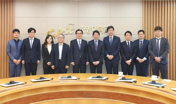 가와노 히로시 소니 그룹 사장, 중앙대학교 방문