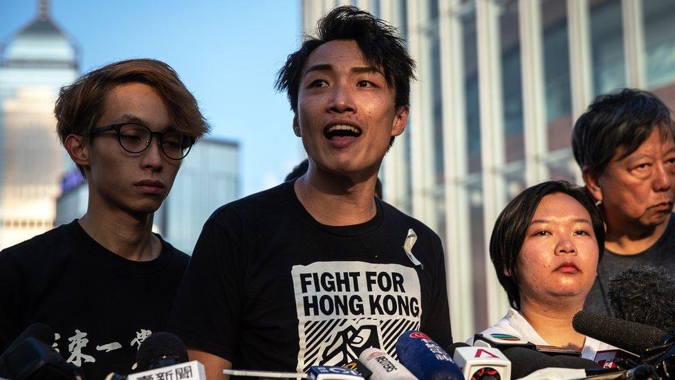 홍콩 시위: 시위대 '법안 철회할 때까지 시위 계속'