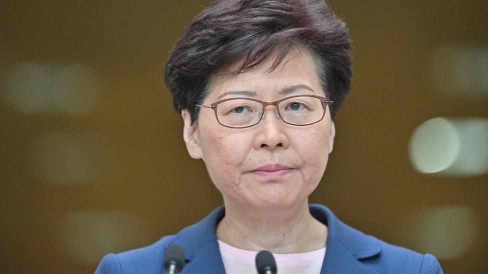 홍콩 시위: 람 장관 '범죄인 인도 법안은 죽었다'