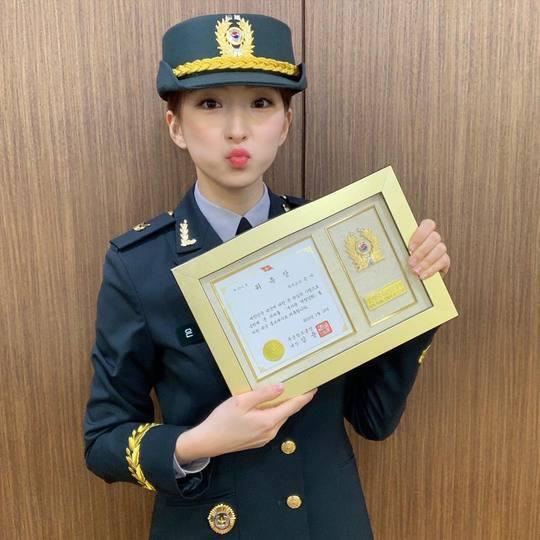 우주소녀 은서, 진짜 사나이→육군 홍보대사 '역시 에이스'[SNS★컷]