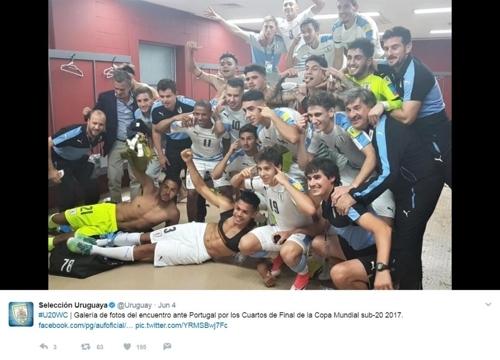 [U-20 월드컵]FIFA, 우루과이 인종차별 세리머니 조사 착수