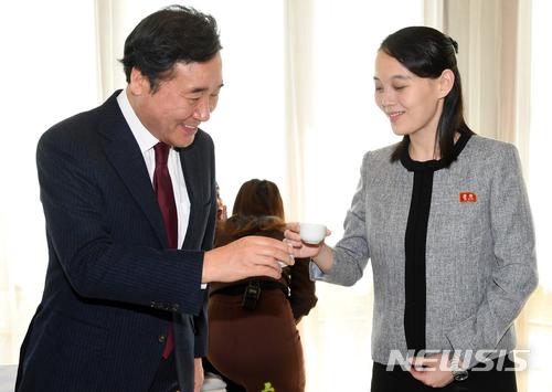 이낙연 국무총리와 김여정 북한 노동당 중앙위원회 제1부부장