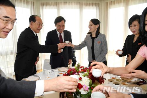 북한 고위급대표단과 이낙연 국무총리 오찬