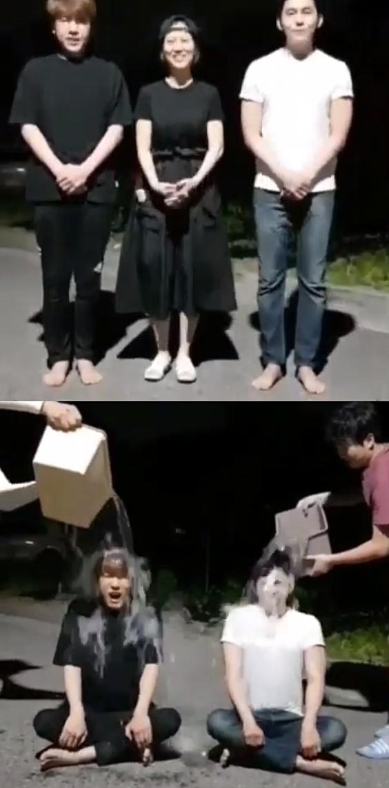 """""""임신 중이라 다음에""""…장윤정 후배 나무 아이스버킷챌린지 응원"""