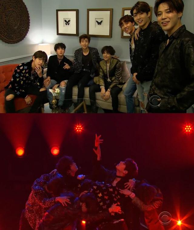 방탄소년단, 美 '제임스 코든쇼' 출연..지난해에 이어 두 번째