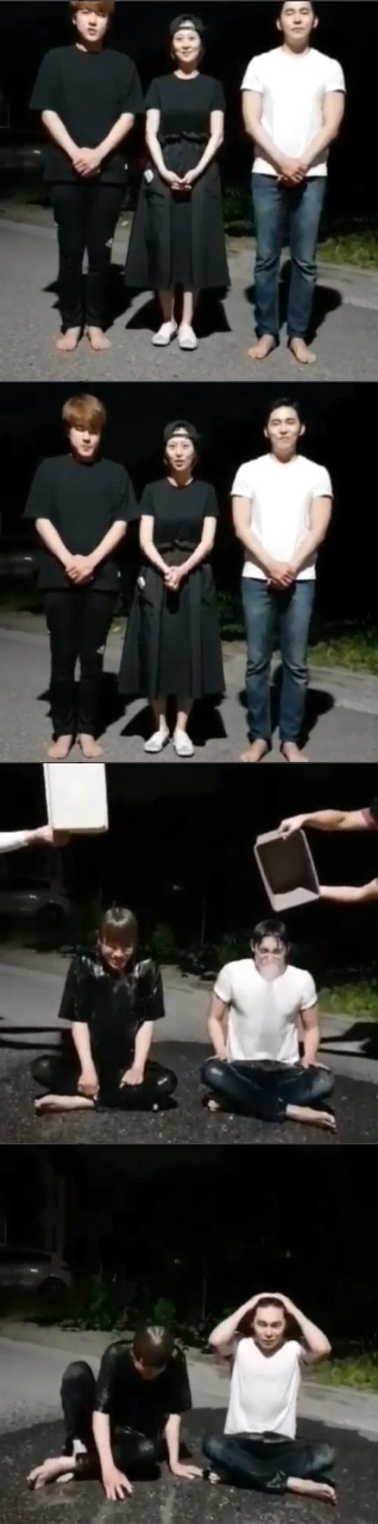 트로트 그룹 나무 '아이스 버킷 챌린지' 동참 임신 중인 장윤정 대신