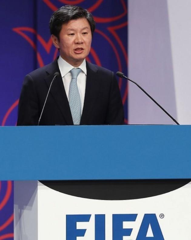"""2030년 월드컵 100주년…정몽규 회장 """"한중일 공동 개최 가능성"""""""