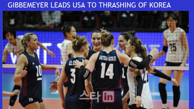 한국 여자배구 VNL 4경기 연속 완패12위로 결선진출 실패