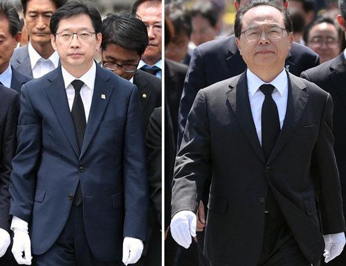 보수심장 PK에 파란 깃발 꽂은 김경수·오거돈·송철호…당선 후 첫 행선지 봉하