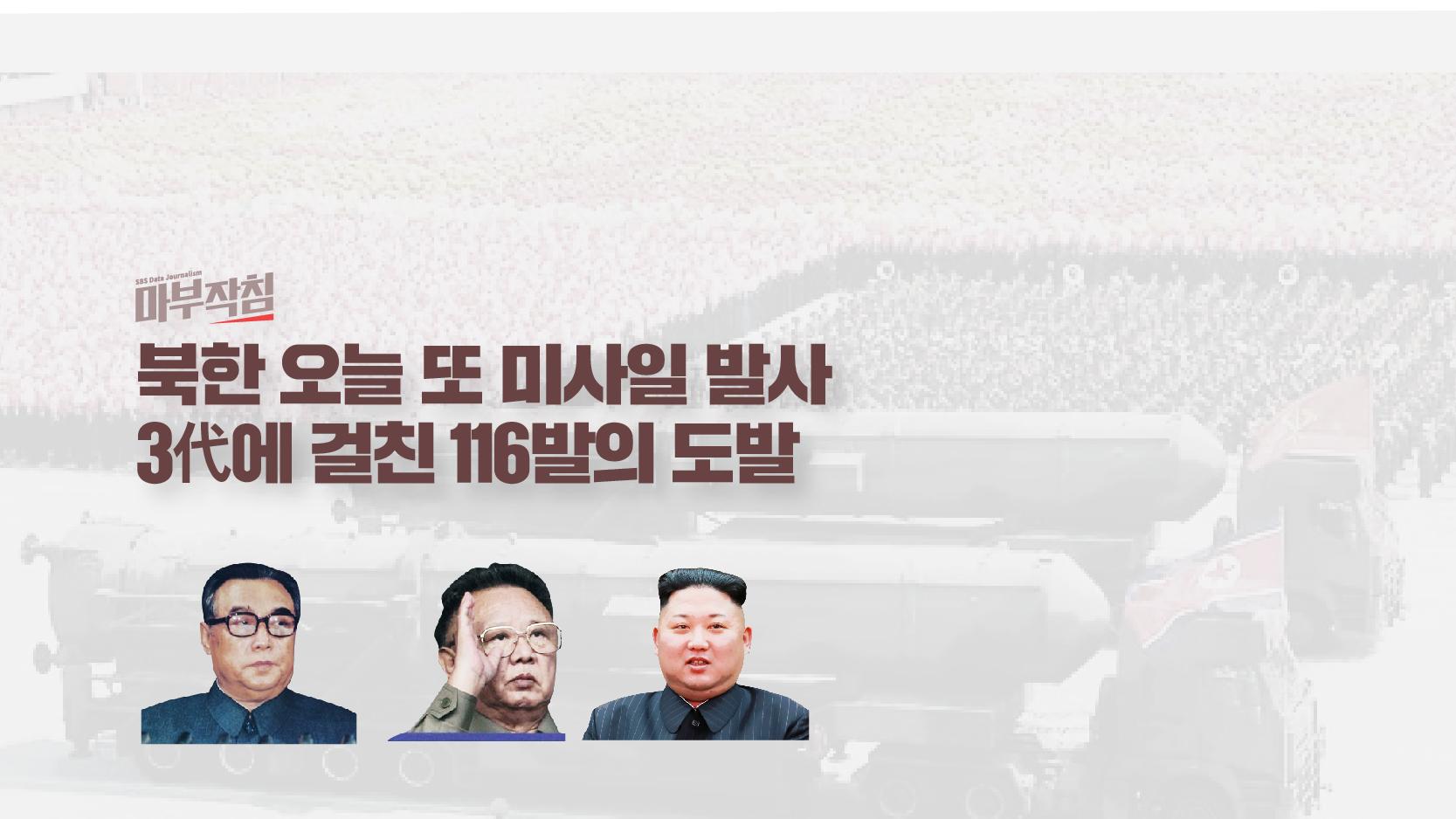 [마부작침] 김일성·정일·정은 3代에 걸친 미사일 115발…도발의 역사