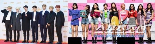 BTSX트와이스 '개념돌' 투표독려 더욱 훈훈한 이유