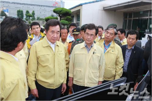 이낙연 국무총리 청주 수해현장 점검