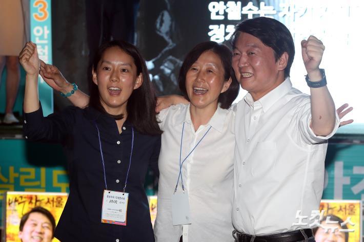 가족과 함께 유세 펼치는 안철수 서울시장 후보