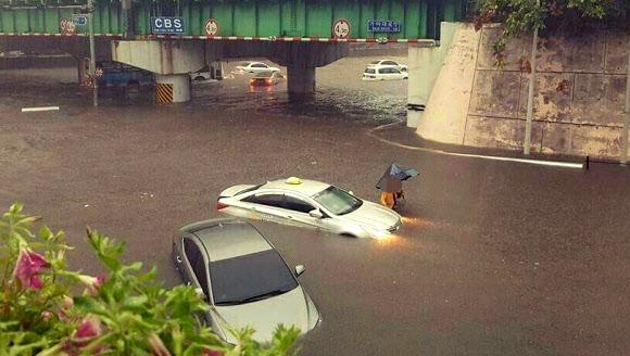 부산 263.5㎜ '물폭탄'… 예보 2배 넘는 폭우에 피해 속출