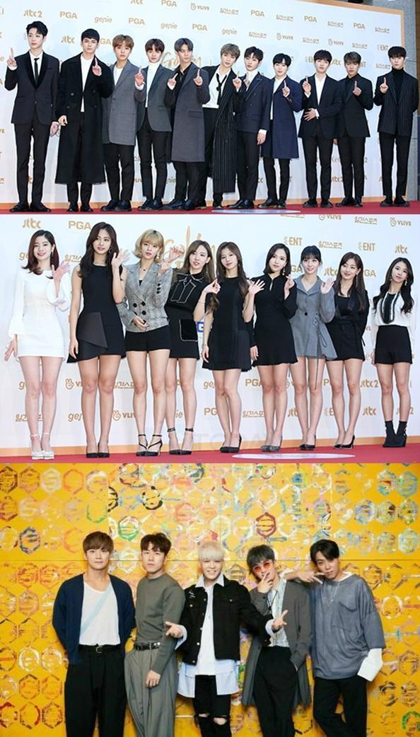 '2018 가온차트 K-POP 어워드' 워너원 트와이스 젝스키스 역대급 라인업, 7시 엠넷·네이버 생중계
