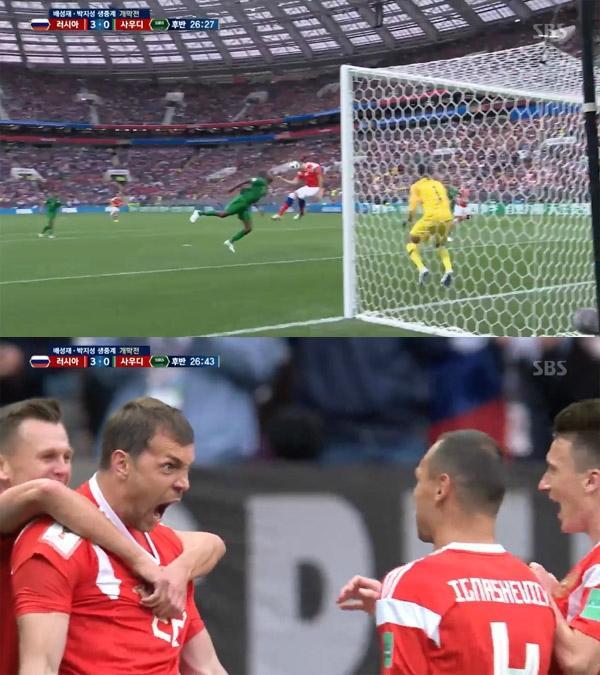 [월드컵 개막전] '러시아 3-0 사우디' 후반 26분 아르템 주바, 헤딩 쐐기골