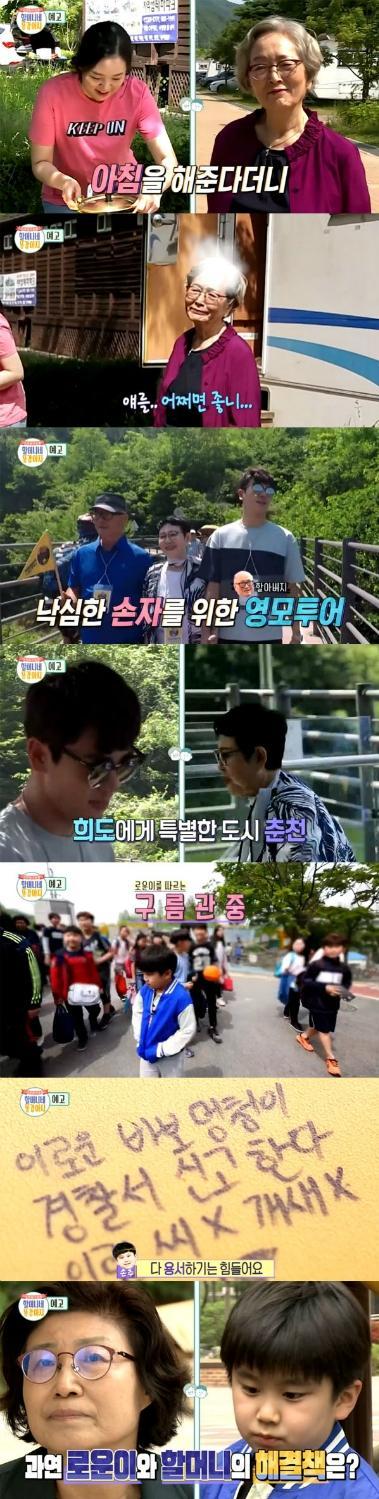 '할머니네 똥강아지' 김영옥, 손녀 기절초풍 캠핑요리에 분노… 이로운, 비방 낙서에 울먹