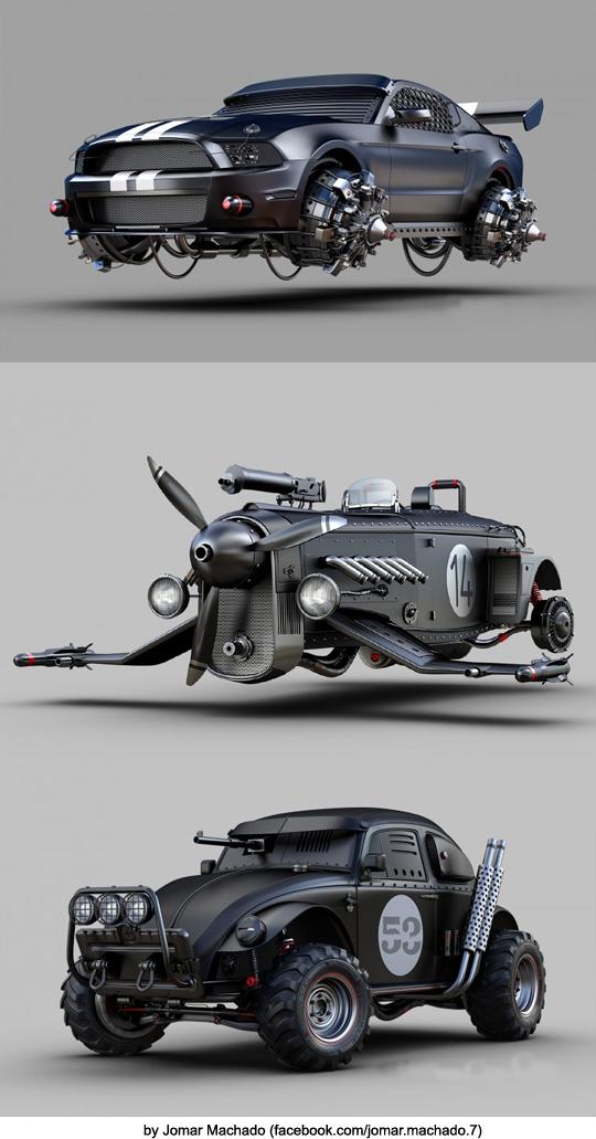 [상상력] 미래의 디스토피아 자동차들