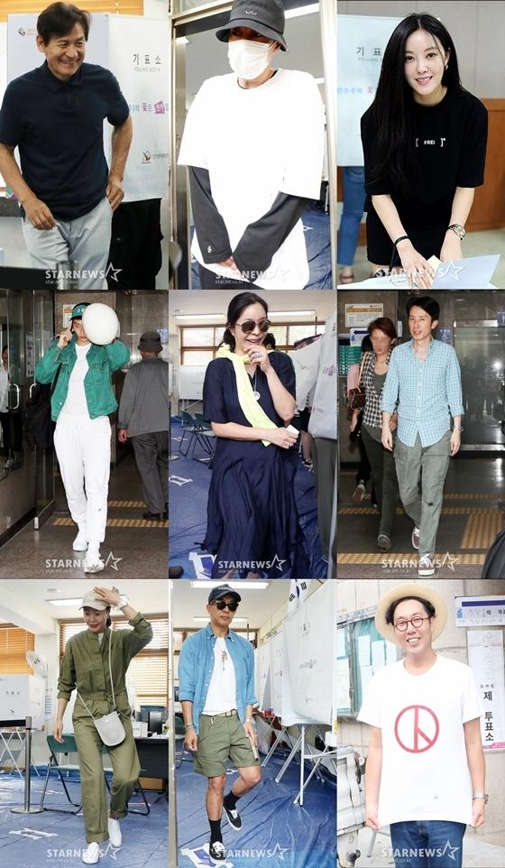 안성기·한지민 투표 및 민경욱 의원 유재석 공유글 논란外