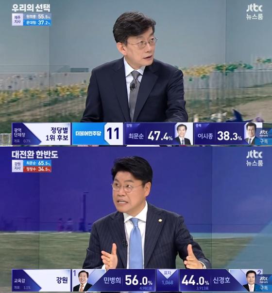 """손석희 """"홍준표, 대표직은 내려놓지만 정계은퇴는 아니라더라"""""""