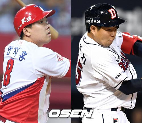 '역대급' 안치홍-양의지 '꿈의 4할 타율' 동반 도전
