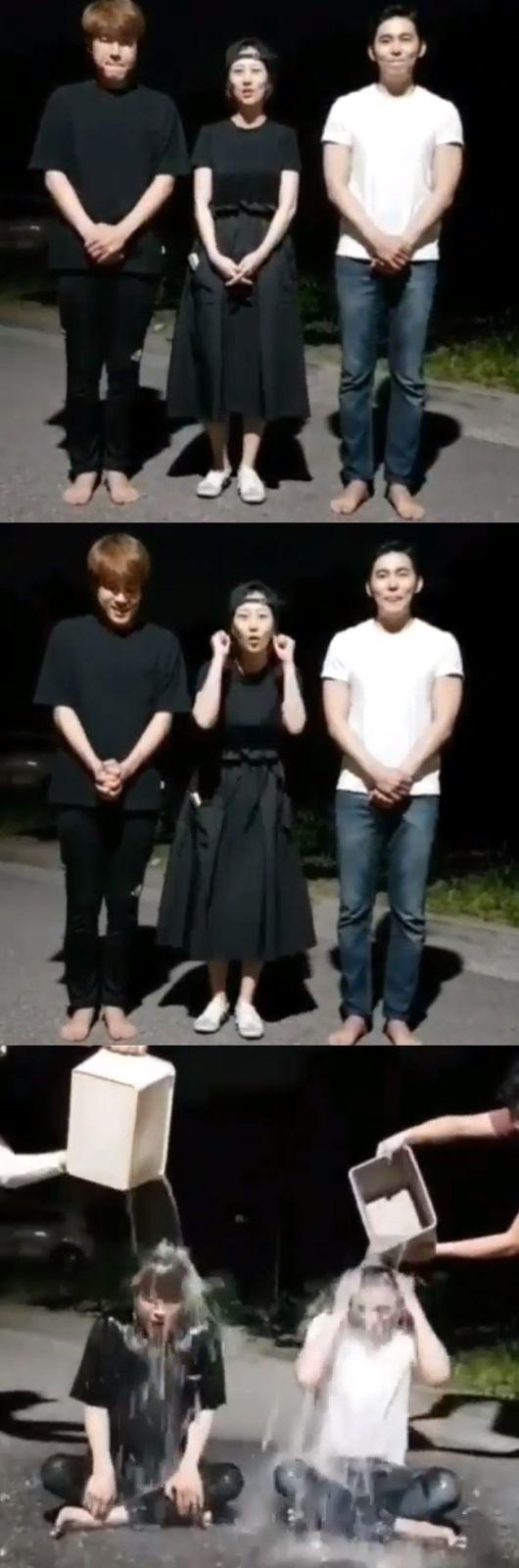 """""""임신 중이라 다음에""""장윤정 아이스버킷챌린지 동참 후배들 응원"""