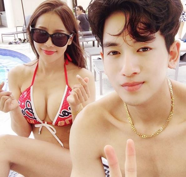 미나♥류필립, 괌 신혼여행 공개..'뱃살 N0, 47세 비키니 몸매'