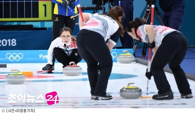 女컬링대표팀, 스위스에 덜미 세계선수권 3패째