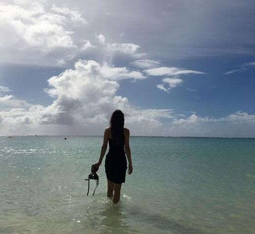 '류필립♥' 미나, 괌에서의 신혼여행...우리 신랑 멋있죠