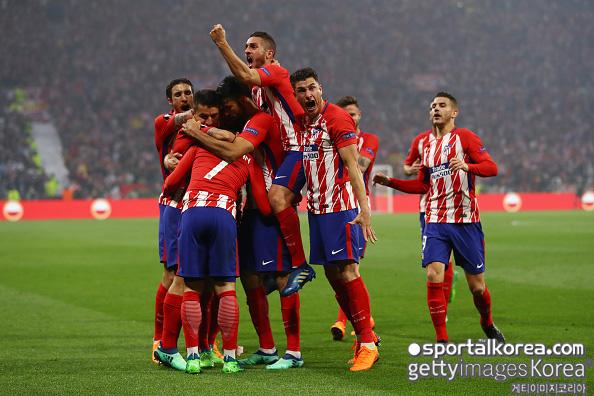 UEL 결승 '그리즈만 선제골' 아틀레티코 마르세유에 1-0 리드전반 종료