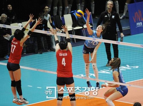 김연경 빠진 여자배구 아르헨티나 VNL 대회 첫 승 희생양