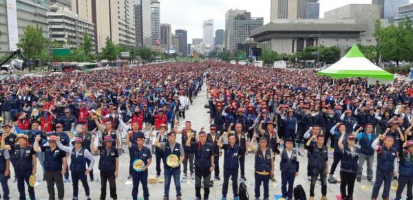 건설노조, 3만 총파업…文정부 들어 두 번째