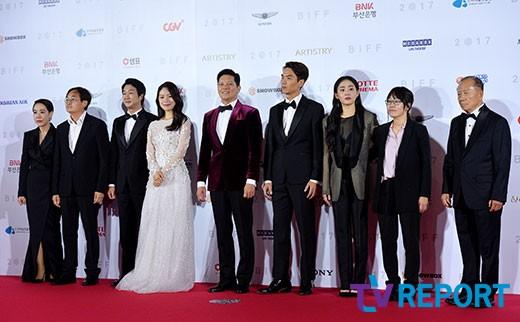 [T포토] 유리정원 ``부산국제영화제` 개막작의 배우들`