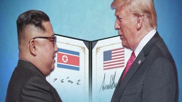 """트럼프, 김정은 친서 공개… 김정은 """"조미 사이 새로운 미래개척"""""""