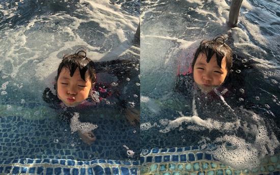 '추블리' 추사랑, 수영장의 꼬마인어 '여전히 깜찍'