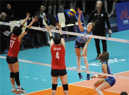 女배구대표팀 VNL 최하위 아르헨티나에 0-3 패배