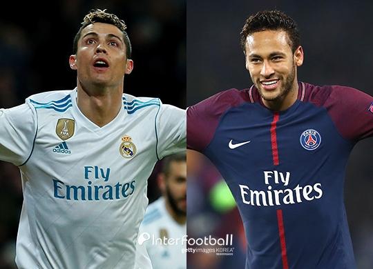 '빅매치' 레알-PSG, 예상 선발 명단은? '호날두 VS 네이마르'