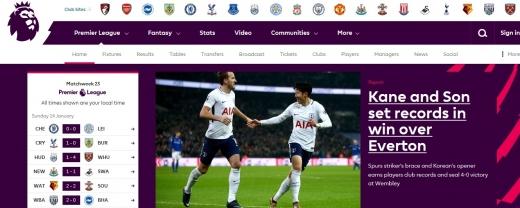 손흥민, EPL 메인 화면 장식… 애버튼과 경기서 `5경기 연속 골` 기록