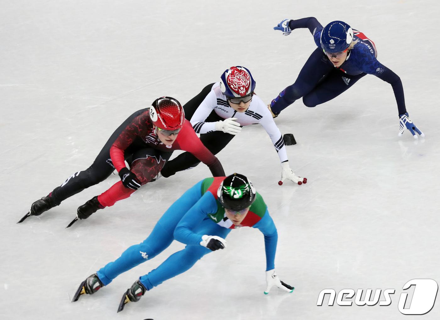 최민정 '캐나다 킴부탱 진로방해로 실격'