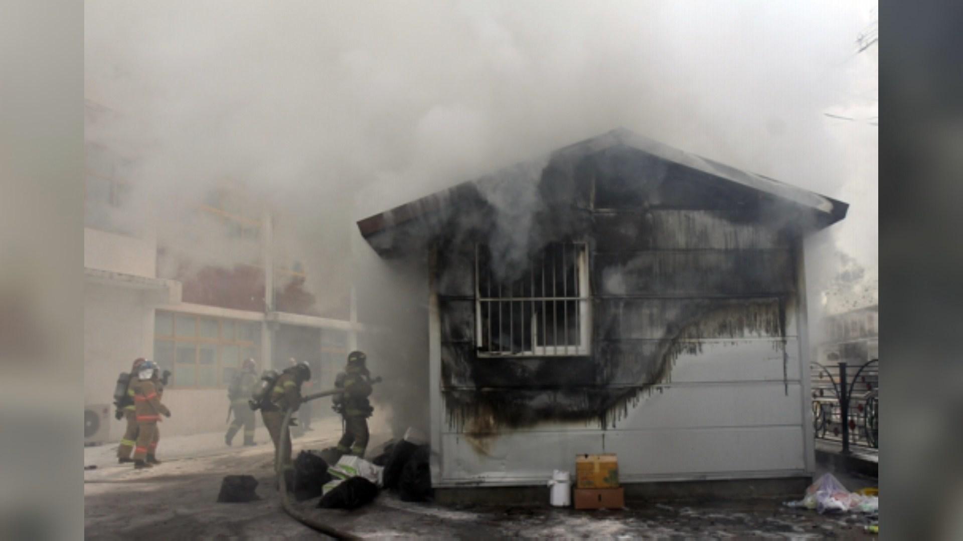 초교 분리수거장서 담배 꽁초로 실화…870명 대피